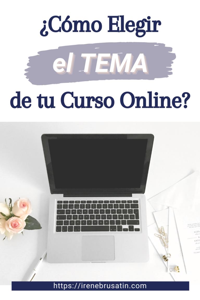 Como elegir la tematica de tu curso online